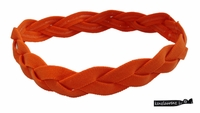 Braided Headband No Slip Orange