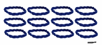 Braided Headbands 12 Pack Blue