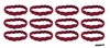 Braided Headbands 12 Pack Burgundy