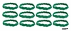 Braided Headbands 12 Pack Green