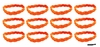 Braided Headbands 12 Pack Orange