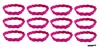 Braided Headbands 12 Pack Pink
