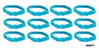 Braided Headbands 12 Pack Teal