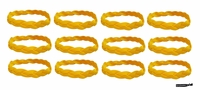 Braided Headbands 12 Pack Yellow
