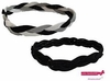 Braided Headbands 2 Pack 1 Black/Whtie/Gray 1 Black