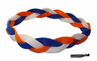 Briaded Headband No Slip Orange/Blue/White
