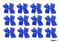 Clip Bow Blue 12 Pack