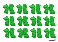 DOUBLE Clip Bow Green 12 Pack