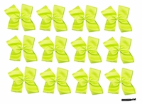 Clip Bow Neon Green 12 Pack