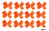 DOUBLE Clip Bow Neon Orange 12 Pack