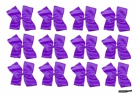 DOUBLE Clip Bow Purple 12 Pack