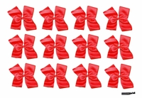DOUBLE Clip Bow Red 12 Pack
