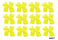 DOUBLE Clip Bow Yellow 12 Pack