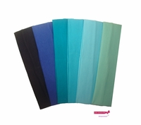 Cotton Headband 6 Pack Blue Ombre