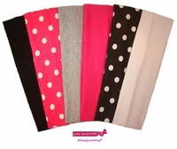 Cotton Headband 6 Pack Dots
