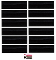Cotton Headbands 12 Pack Black