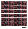 Cotton Headbands 12 Pack Black Floral