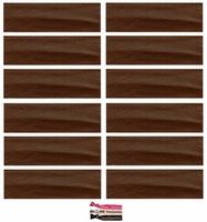 Cotton Headbands 12 Pack Brown