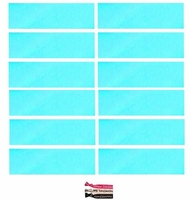 Cotton Headbands 12 Pack Light Blue
