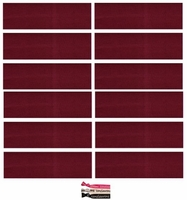 Cotton Headbands 12 Pack Maroon