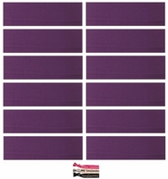 Cotton Headbands 12 Pack Plum