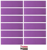Cotton Headbands 12 Pack Purple