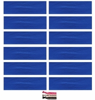 Cotton Headbands 12 Pack Royal Blue