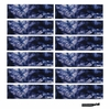 Cotton Headbands 12 Pack Tie Dye Blue