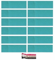 Cotton Headbands 12 Pack Turquoise