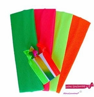 Cotton Headbands Neon 4 Pack with Hair Ties