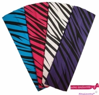 Cotton Headbands Zebra 4 Pack