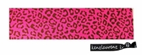Cotton Stretch Headband Cheetah Pink