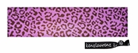 Cotton Stretch Headband Cheetah Purple