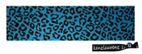 Cotton Stretch Headband Cheetah Teal