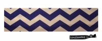 Cotton Stretch Headband Chevron Blue