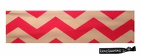 Cotton Stretch Headband Chevron Pink