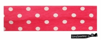 Cotton Stretch Headband Pink and White Dot