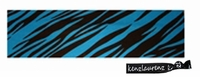Cotton Stretch Headband Zebra Teal