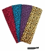 Cotton Stretch Headbands - Cheetah - 4 Pack