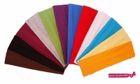 Cotton Stretch Headbands - Solids - 12 Pack