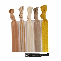 Designer 5 Pack Gold Shimmer Stripe