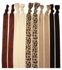 Headbands Fold Over Elastic 10 Pack Cheetah