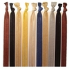 Headbands Fold Over Elastic 10 Pack Neutrals