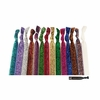 Glitter Hair Ties 20 Pack You Pick Your Colors