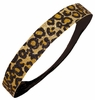 Glitter Headband Cheetah Gold and Black