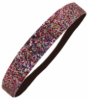 Glitter Headband Multi-Color Rainbow