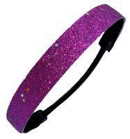 Glitter Headband Purple Star