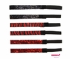 Glitter Headbands Red and Black Zebra 6 Pack