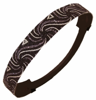 Glitter Headband White and Black Swirl