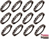 Glitter Headbands 12 Pack Silver and Black Zebra